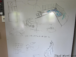 pond desigh, whiteboard, pump diagram, backyard concrete pond
