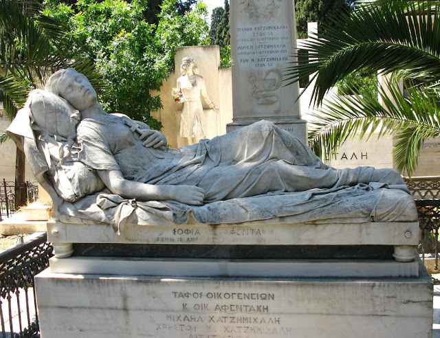 The First Cemetery Tomb of Sofia Afentaki photo Tilemahos Efthimiades