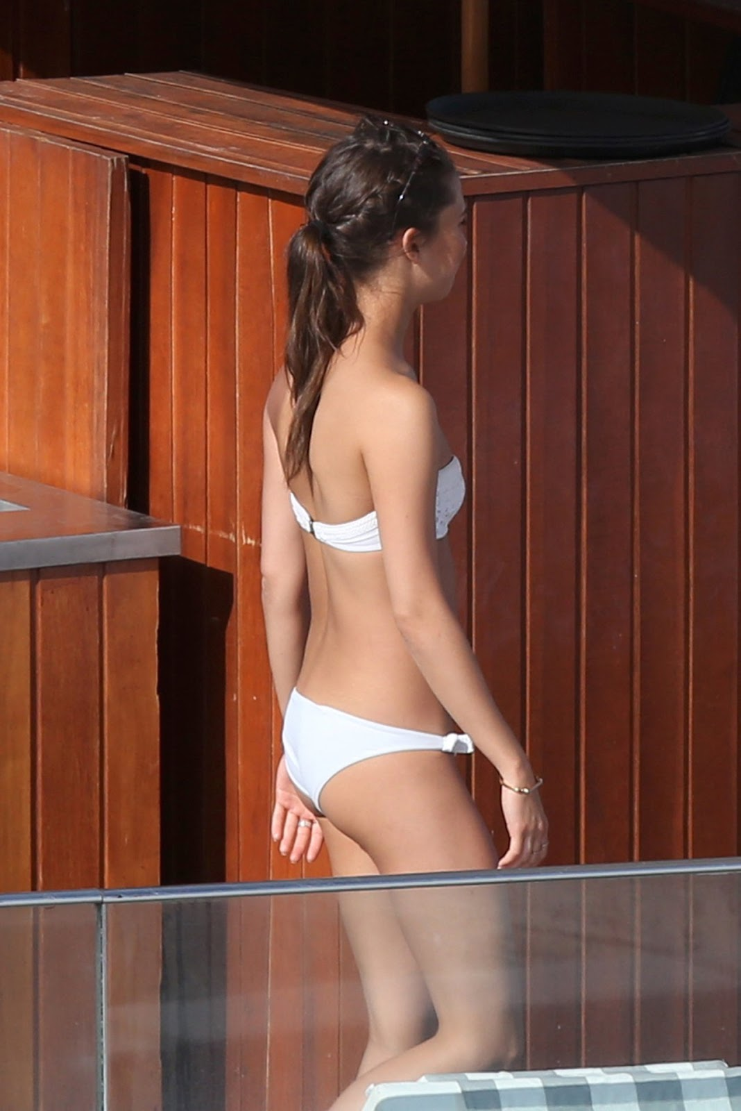 Alicia Vikander shows lithe physique in white bikini on Brazilian getaway