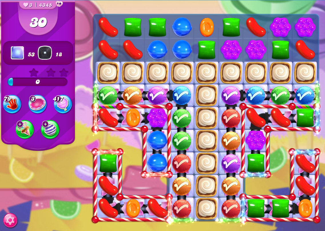 Candy Crush Saga level 4345