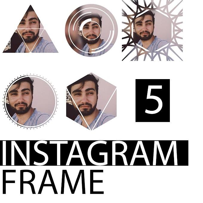 5 Adet Instagram Frame PSD