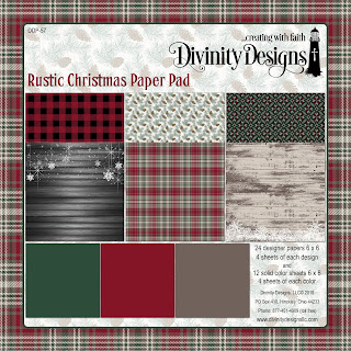 Divinity Designs LLC Rustic Christmas Paper Pad