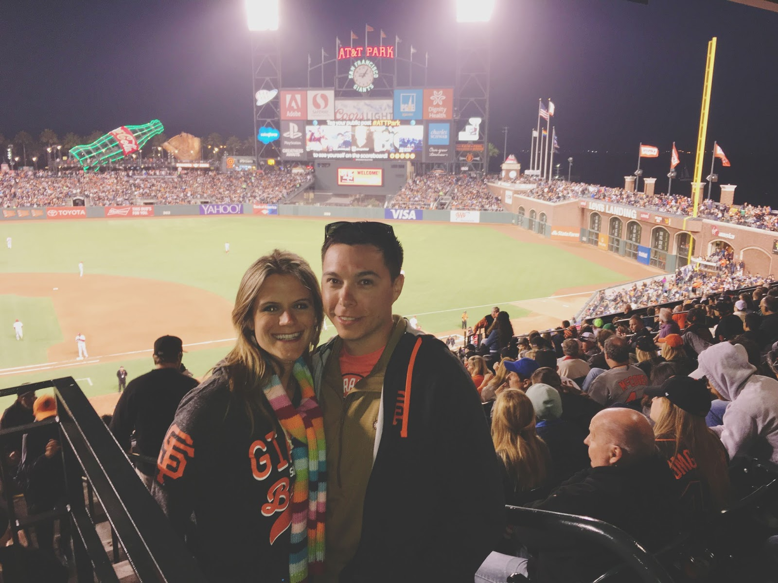 AT&T Park - the baseball stadium in San Francisco, California