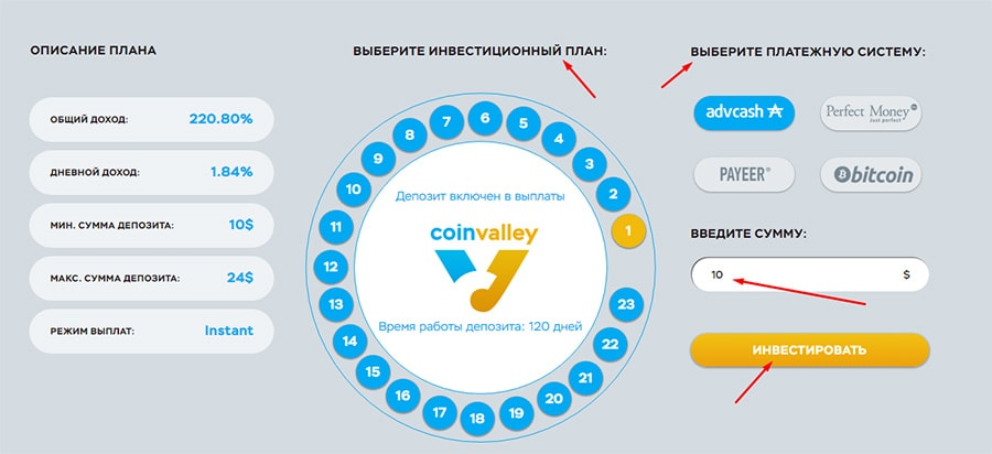 Регистрация в Coin Valley 6