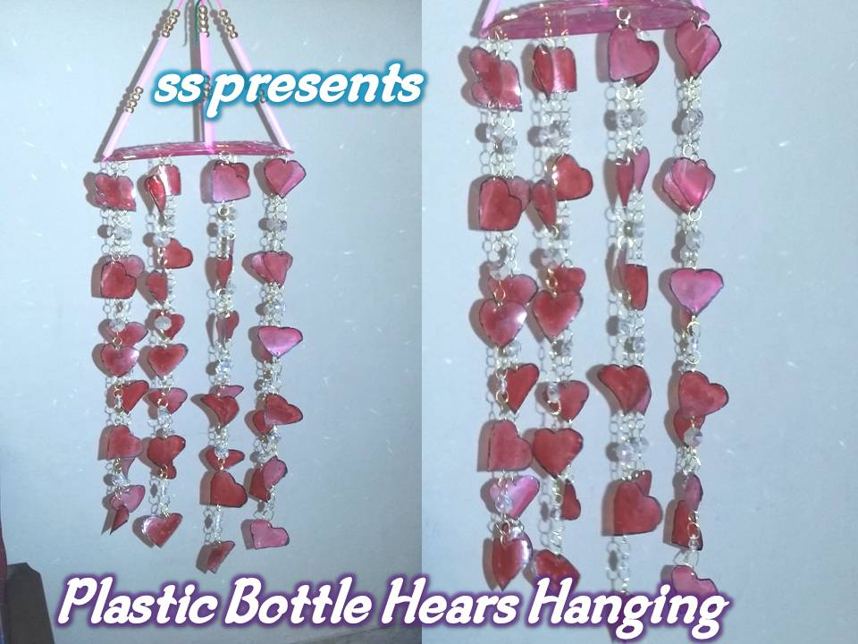 Ssartscrafts plastic bottle valentine 39 s day hearts hanging for Room decoration ideas on dailymotion