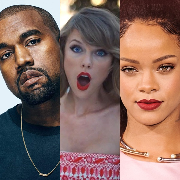 Taylor Swift es insultada en una canción de Kanye West feat. Rihanna