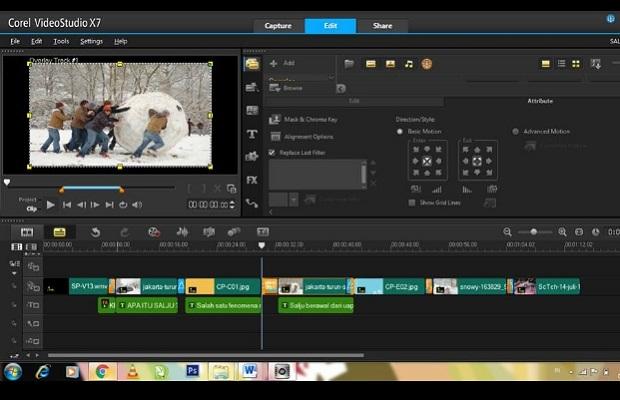 Aplikasi Edit Video PC Corel Video Studio