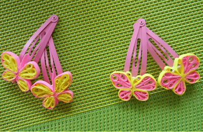 Unique quilling paper hair accessories clip designs - quillingpaperdesigns