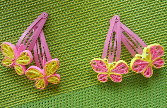 quilling paper hair accessories
