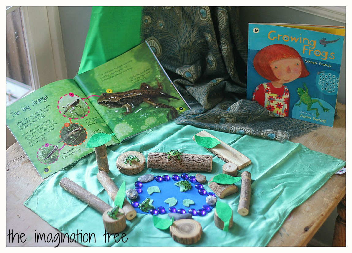 5 Speckled Frogs Natural Small World Play