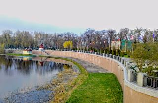 Миргород. Набережная и лодочная станция