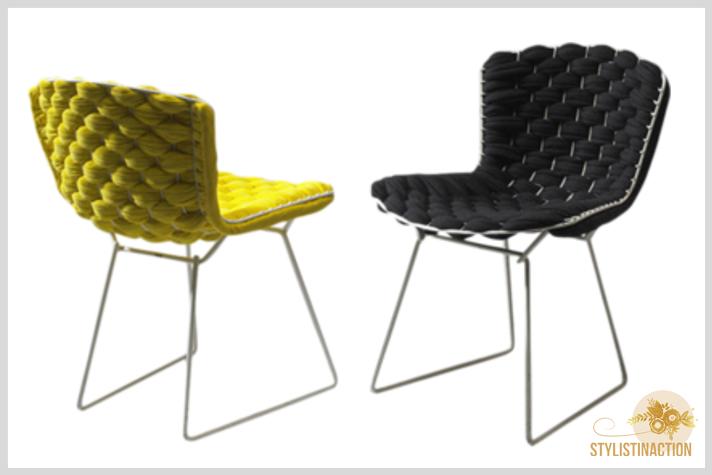 sillas de autor - cual es la indicada para cada casa - Silla Bertoia intervenida