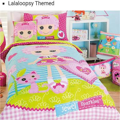 desain tempat tidur kartun untuk anak perempuan