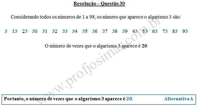 Questão 30 - Soldado PM de 14/12/2014