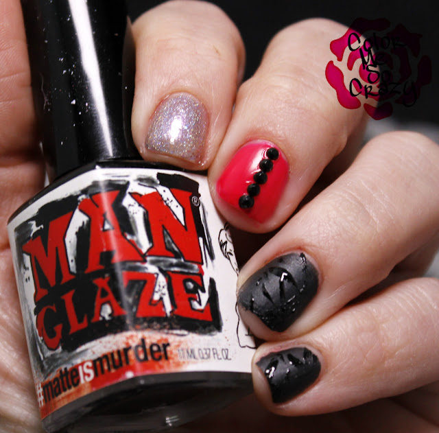 nail challenge collaborative, man glaze, orly, kb shimmer, ozotic, punk rock nails