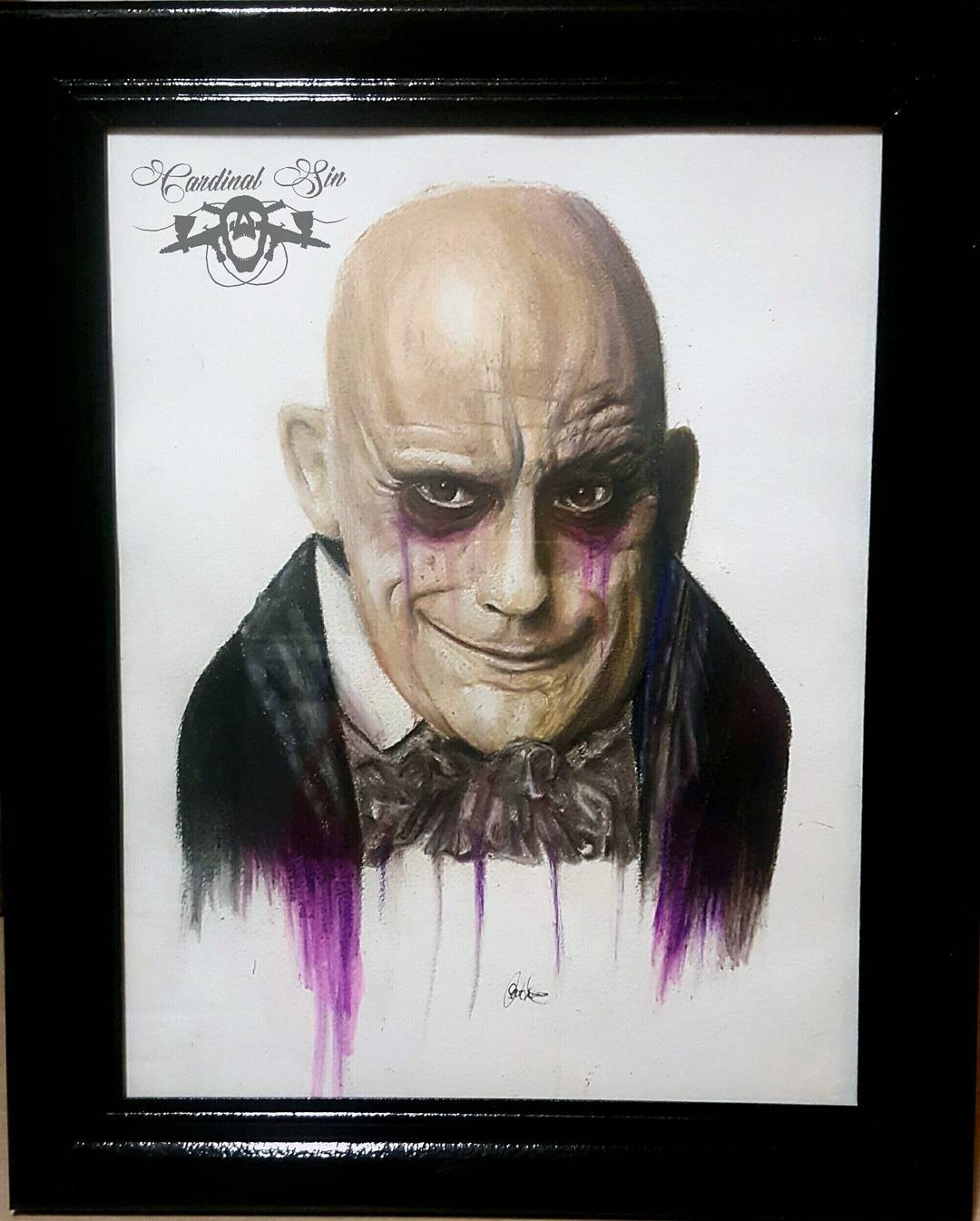 04-Uncle-Fester-Addams-Family-Courtney-Georghiou-Art-Drawn-and-Airbrushed-and-Painted-in-an-Eclectic-Mix-www-designstack-co
