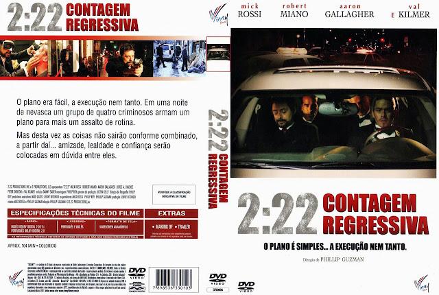Capa DVD 2:22 CONTAGEM REGRESSIVA