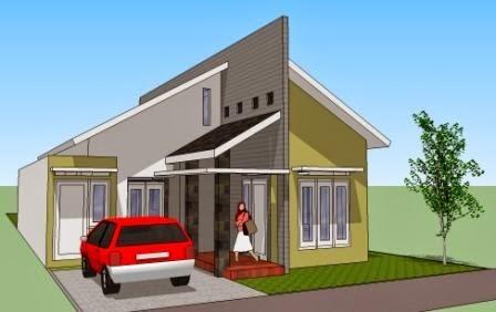 model rumah atap miring 3