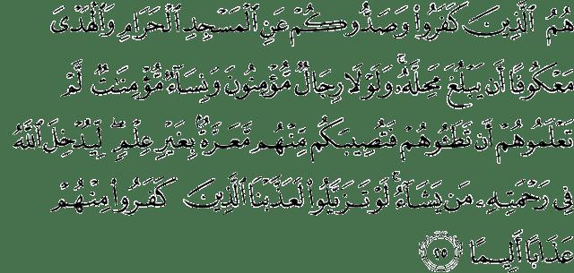 Surat Al-Fath Ayat 25