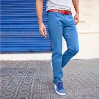 Pantaloni cu 5 buzunare croiala dreapta din bumbac stretch