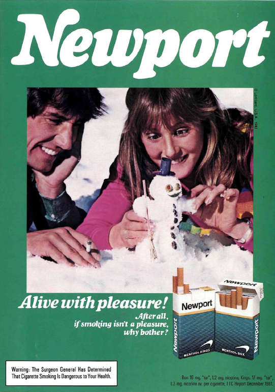 """Alive with pleasure!"" - Newport Adverts on Magazines from ..."