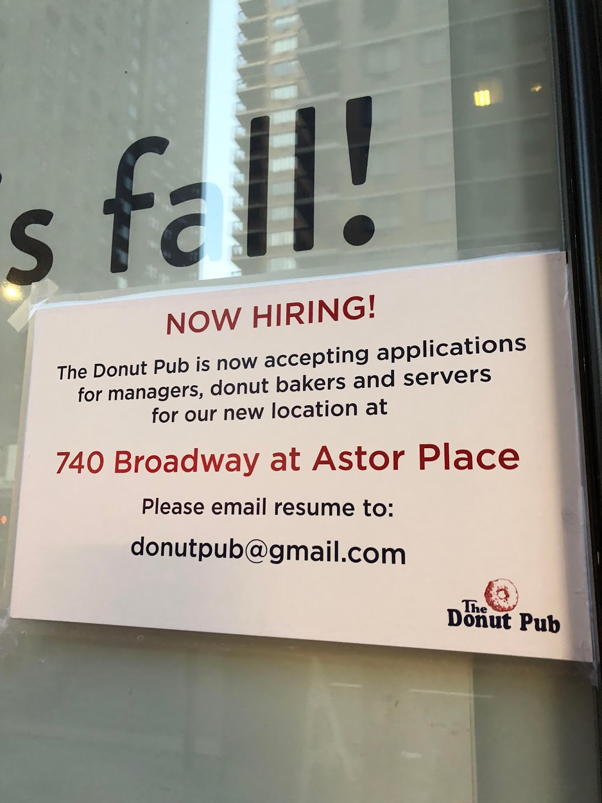 donut pub astor place
