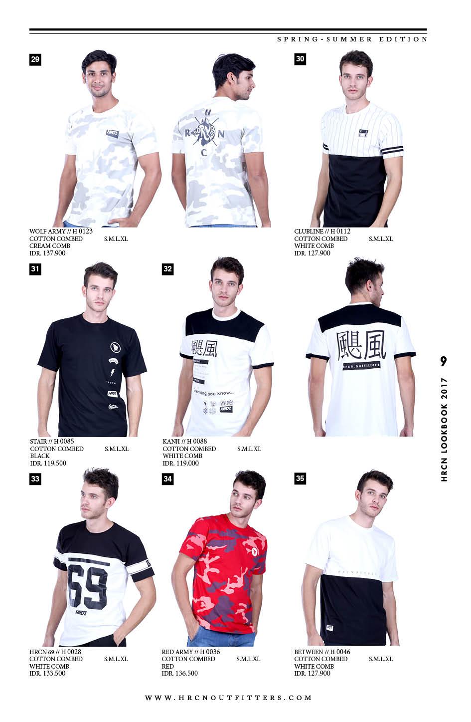 Katalog Terbaru Hrcn 2016 2017 Kaos Casual Pria Distro H 0046