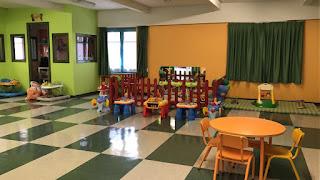 Las instalaciones vacías tras la marcha de todos los niños el último día en La Milagrosa