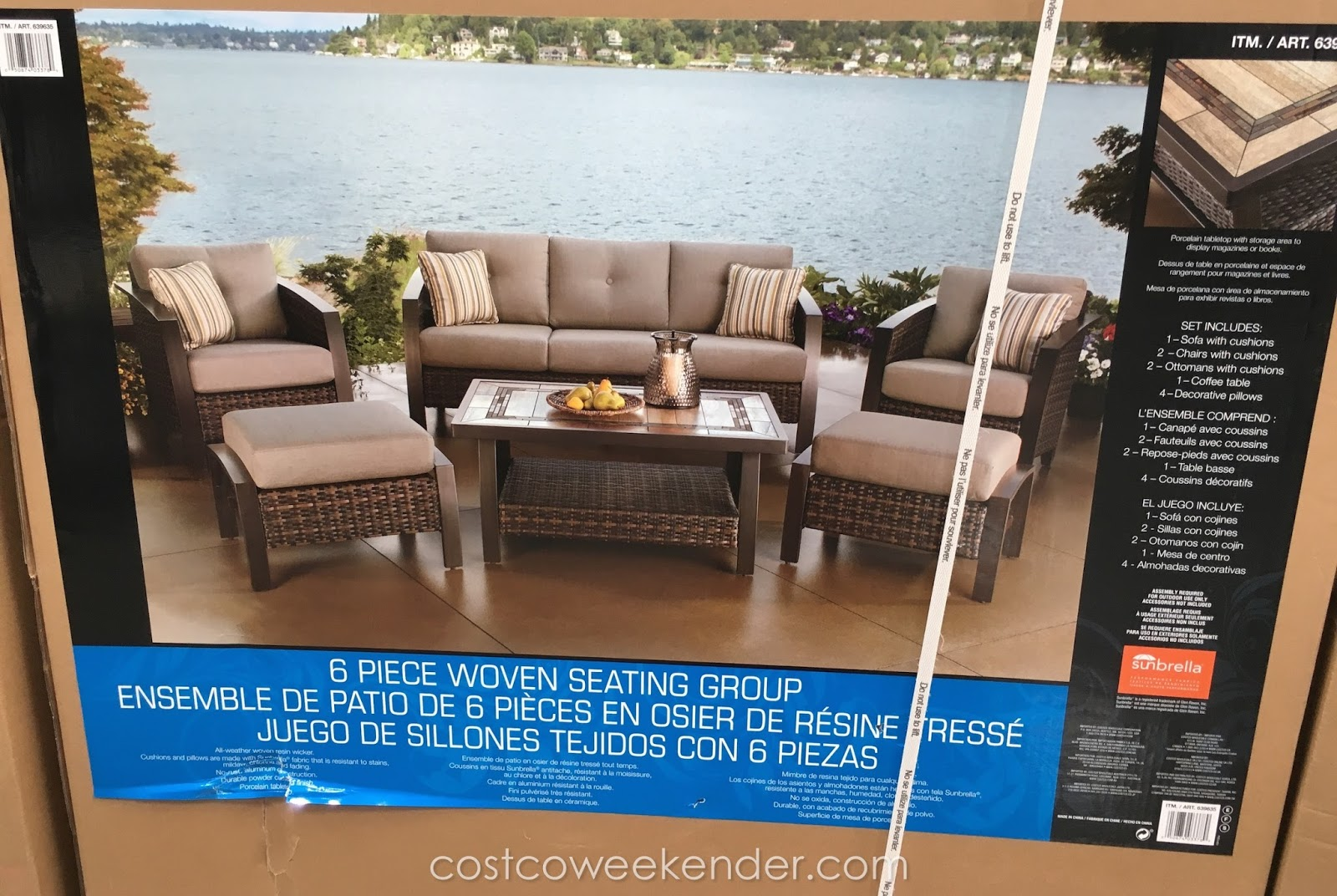 Sunvilla patio furniture costco sunvilla beaumont 7 sling for Agio international chaise lounge