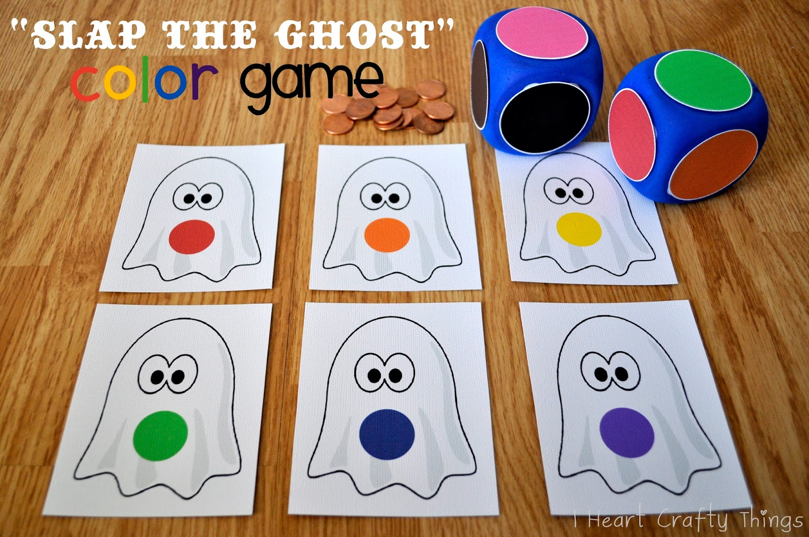 Slap the Ghost  Halloween Color Game   I Heart Crafty Things    Slap the Ghost    Halloween Color Game