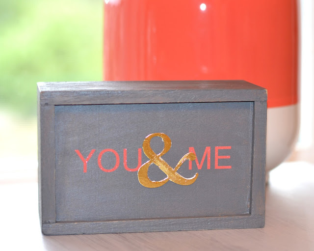 you & me custom wooden sign created with vinyl