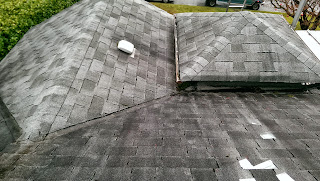 Installing a roof in the rain