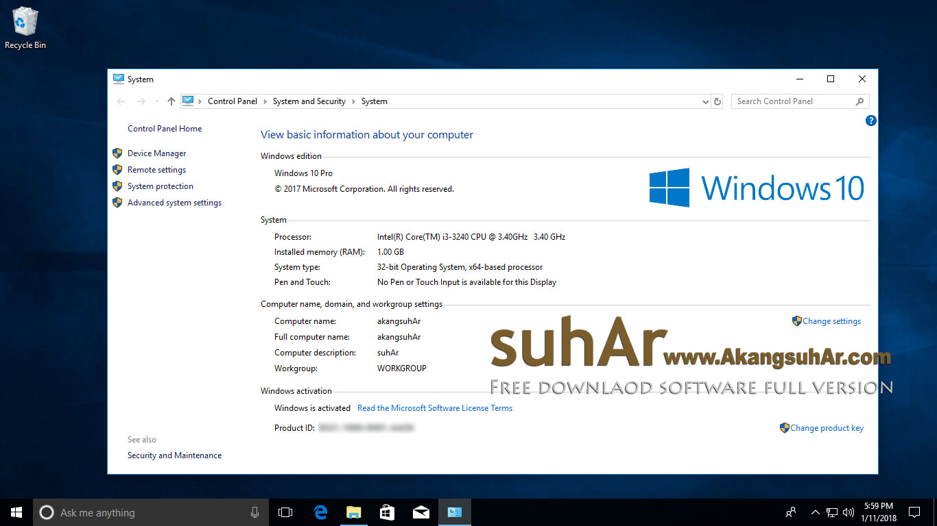 Download Windows 10 Pro RS3 Latest version terbaru full download. Windows 10 Professional RS3 FINAL