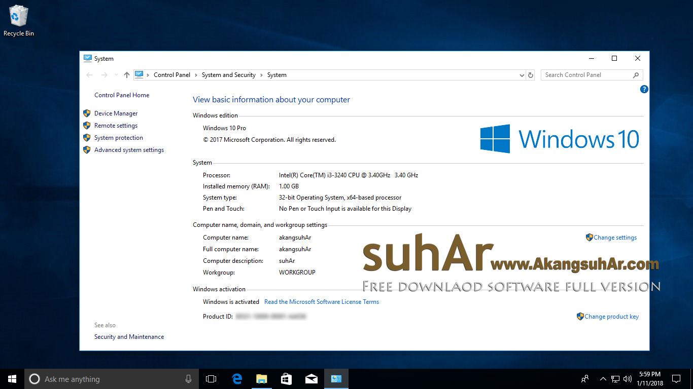 Download Windows 10 Pro RS3 Latest version terbaru full download. Windows 10 Professional RS3 FINAL