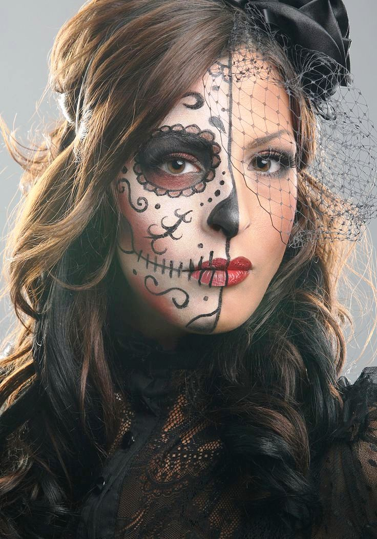 Happy Halloween Day: 21 Mask Halloween Makeup Ideas