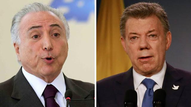 Santos y Temer discutirán sobre impacto migratorio de venezolanos