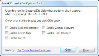 Tweak Ctrl+Alt+Del options tool