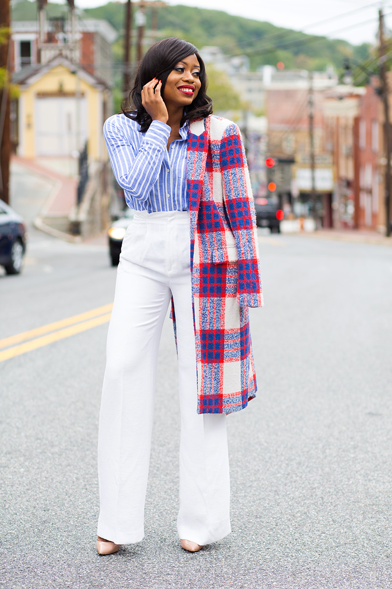 Chelsea28 wide leg pants, Streetstyle, Zara statement coat