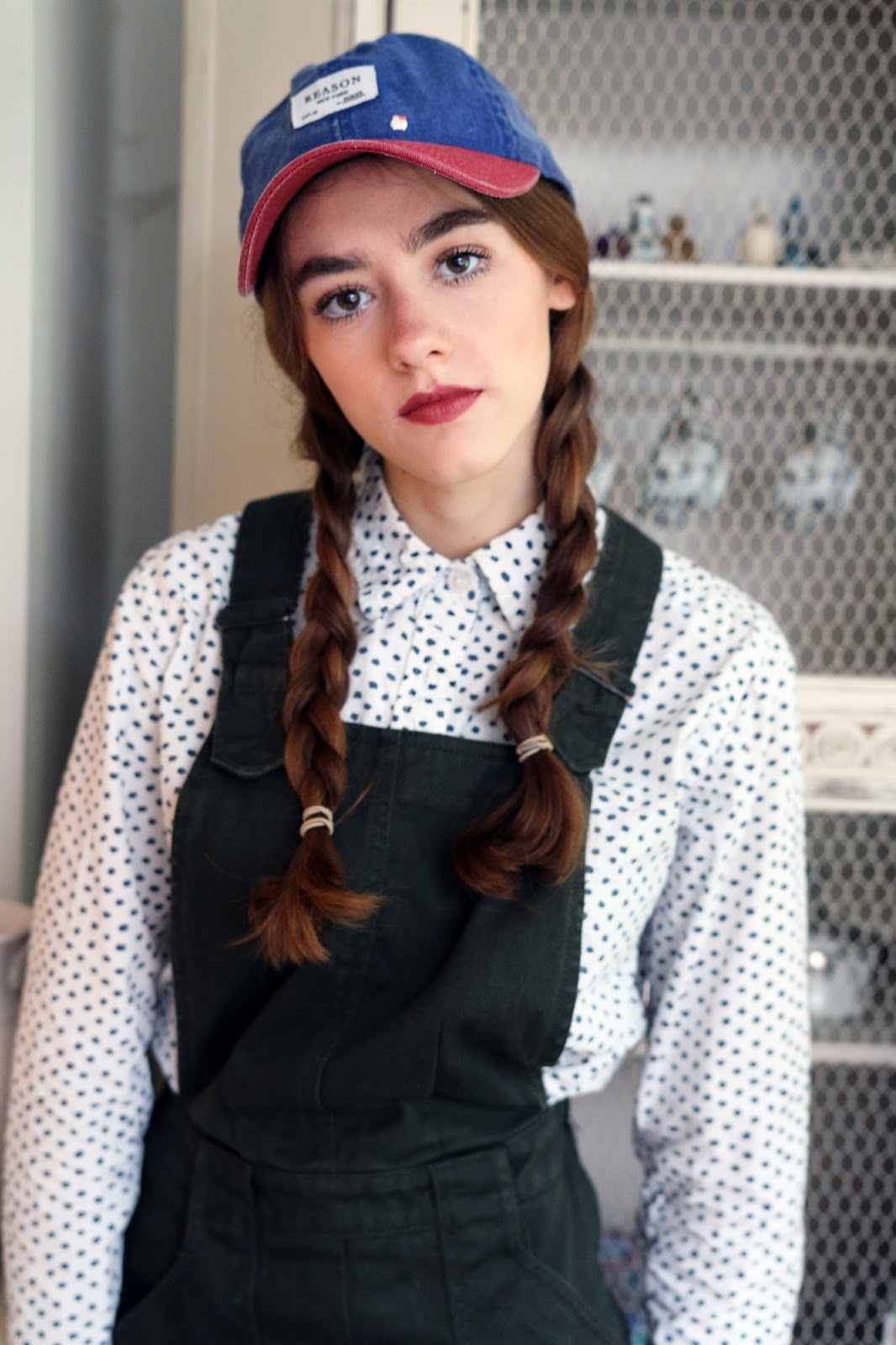 Alice in Wonderland,plaits,  Amelia, Mandeville, Jumpsuit, Mandeville Sisters, eyebrows, Blog, funny, fashion, comedy, jumpsuit, boiler suit, OOTD, Blogger, comment, witty, author, writing, Urban Outfitters, hat, cap, dungarees, dress, shirt, blouse.