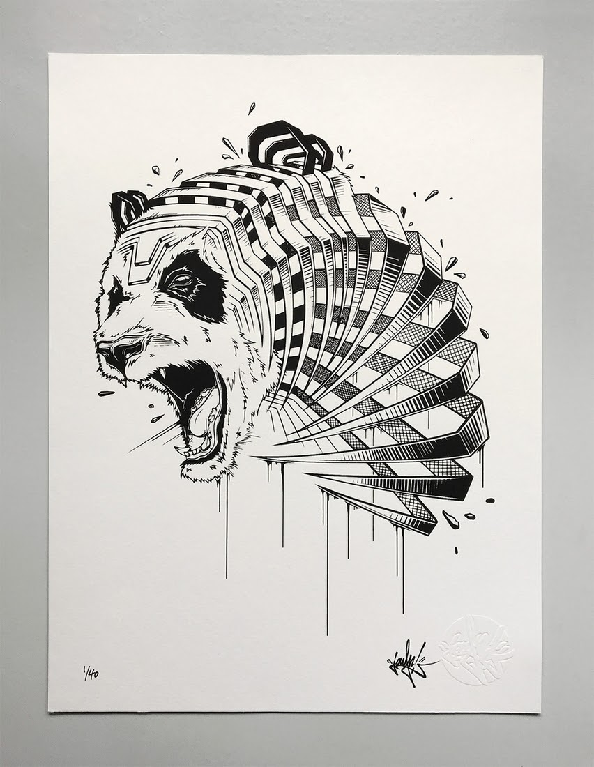 12-Panda-JAYN-ABS-Crew-Slice-Animal-Portraits-Stylised-Looks-www-designstack-co