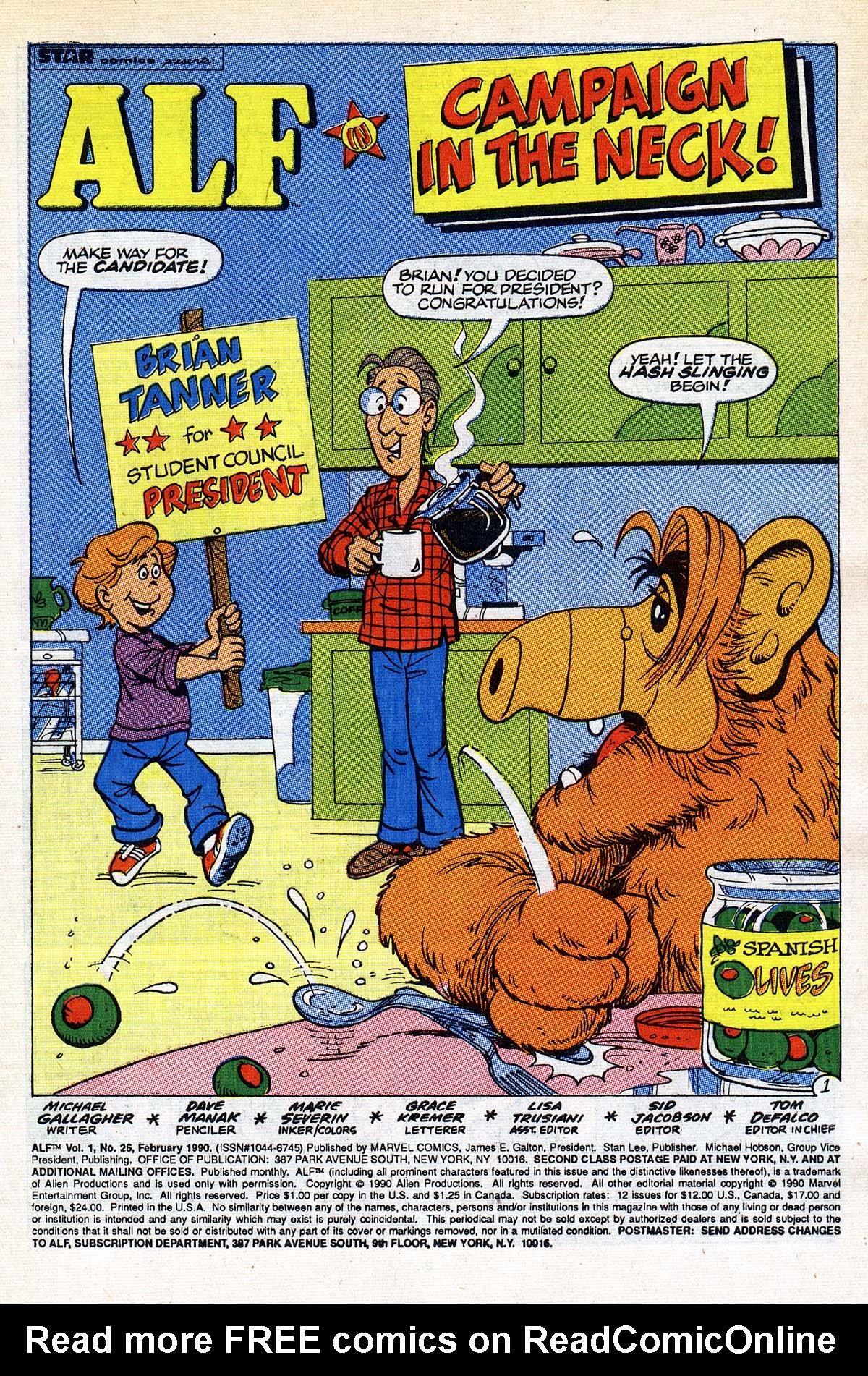Read online ALF comic -  Issue #26 - 2