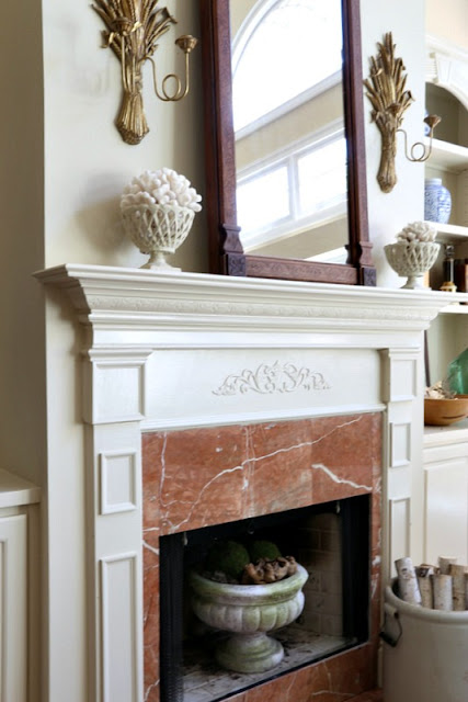 shells on a mantel