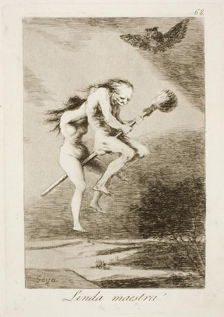 Από τα χαρακτικά του Γκόγια με τίτλο Τα Καπρίτσια - Linda maestra / Χαριτωμένη δασκάλα / Pretty teacher
