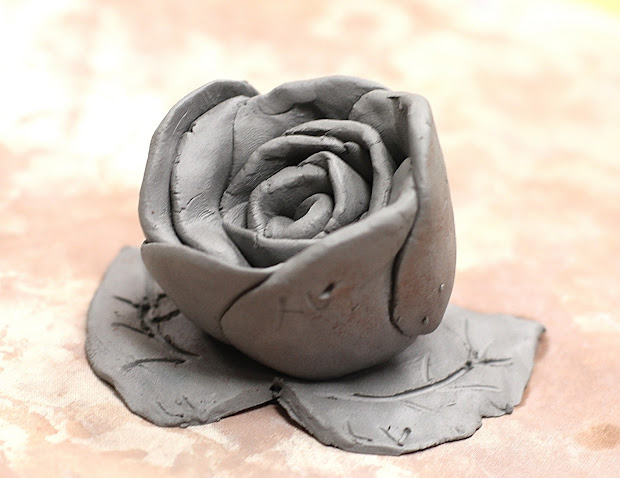 Easy Clay Roses Sculptures
