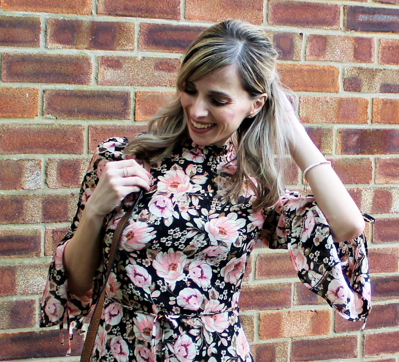OOTD featuring a floral dress from Topshop and beaded bracelet from Lola Rose - 4