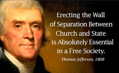 Jefferson on separation of church and state