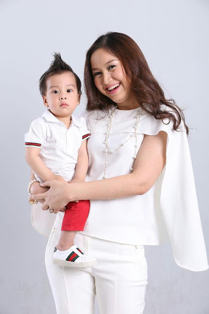 actress chaw yadanar and her son