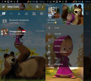 BBM MOD Tema Masha and The Bear v3.3.0.16 APK Versi Terbaru