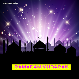 Ramadan Mubarak Images mosque stars