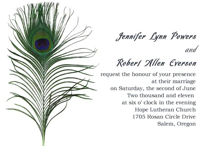 Peacock Feather Wedding Invitation: Cheap Peacock Wedding Invitations